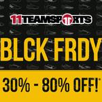 BLCK FRDY Sale bei 11teamsports mit bis zu 80% Rabatt auf das gesamte Sortiment