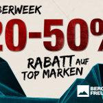 Die Bergfreunde.de CyberWeek: Jeden Tag eine neue Aktion mit 20% bis 50% auf TOP-Outdoor-Marken