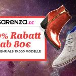 20% Rabatt (ab 80 Euro) auf mehr als 10.000 Produkte beim Schuh-Spezialist SARENZA.DE