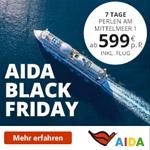 AIDA Black Friday 2018: Mittelmeer, Kanaren, Orient & Nordeuropa zu Traumpreisen