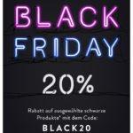 20% Rabatt auf ausgewählte schwarze Produkte bei About You