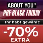 Bis zu 70% EXTRA Rabatt auf die Lieblingskategorien der ABOUT YOU Kunden
