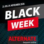 Die Alternate Black Week 2020: Bis zu 20% Rabatt auf Technik, Spielzeug, Ourdoor und mehr