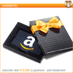 Thumbnail image for Gewinnspiel: Amazon.de verlost 10.000 Euro Gutschein