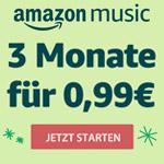 Nur für kurze Zeit: 3 Monate Amazon Music Unlimited für 0,99 EUR