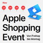 Apple Shopping Event 2018: Geschenkkarten beim Kauf ausgewählter Apple Produkte