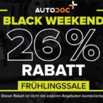Autodoc Black Weekend Frühlingssale mit 26% Rabatt