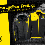 Schwarzgelber Freitag bei Borussia Dortmund: 19,09% auf schwarze Puma-Textilien!