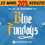 Blue Fundays Sale bei Funsport.de: Alles mindestens 20 Prozent reduziert