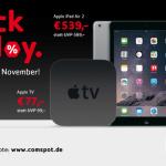 Black Friday Weekend bei Comspot: 3 Tage lang Rabatte auf Apple Hardware und Zubehör