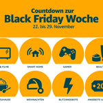 Countdown zur Amazon Black Friday Woche 2019