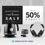 Black Friday & Cyber-Monday Sale bei Electronic-Star: Mehr als 60 Produkte bis zu 50% reduziert