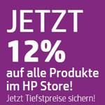 HP CYBER WEEKEND: 12% Rabatt auf alle Produkte im HP Store und einige Produkte bis zu 55% reduziert