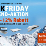 Black Friday Weekend bei HP: 5 Tage lang 12% Rabatt auf alle Notebooks, Desktop PC's und Tablets