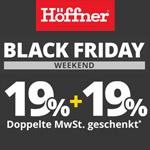 Black Friday Weekend bei Höffner: Doppelte MwSt. geschenkt auf fast alles im Möbelhaus und Online