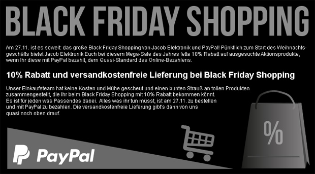 black friday elektronik