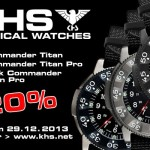 KHS Tactical Watches: -20% auf aktuelle KHS Einsatzuhren