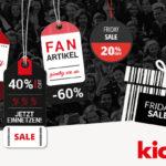 Spare am Black Friday bis zu 60% auf zahlreiche Fanartikel im Shop von kicker!