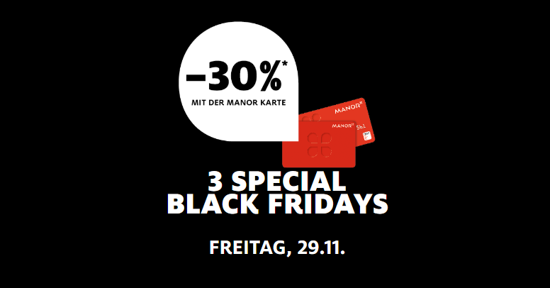 MANOR Black Friday 2019