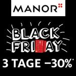 3 Tage BLACK FRIDAY bei Manor: 30% Rabatt mit der Manor Karte