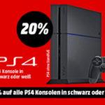 20 Prozent auf alle PS4 Konsolen und PS4 Pakete beim Media Markt Red Sale