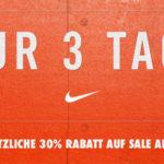 30% Extra-Rabatt auf alle Sale Artikel im NIKE Store