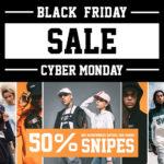 50 Prozent Rabatt auf ausgewählte SNIPES-Styles und aktuelle Sneaker