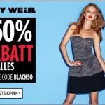 TALLY WEiJL bietet -50% Rabatt auf alle Bekleidung, Schuhe und Accessoires online