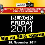 Bis zu 50% sparen beim Black Friday Sale von werkstatt-king.de