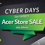 Cyber Days – Bis zu 15% Rabatt beim größten Acer Store Sale des Jahres!