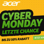 Cyber Monday bei Acer – Nutze die letzte Chance und sicher dir bis zu 50% Rabatt auf ausgewählte Produkte