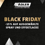 15% auf ADLER Spray- und Effektlacke am BLACK FRIDAY.