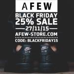 Sneakerfreunde aufgepasst – Sicher dir jetzt 25% Rabatt auf das gesamte Sortiment bei Afew!