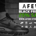 Ob Sneaker oder trendige Klamotten, sicher dir heute 25% Rabatt im Store von Afew!