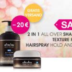 20,- € Rabatt auf Hairspray + Texture Paste inkl. kostenlose Lieferung bei ahuhu