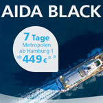 AIDA Black Friday: 7 Tage Metropolen ab Hamburg ab 449,-€ pro Person