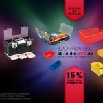 Ordentliche 15% Rabatt auf alle Sortier- und Lagersysteme von ab in die BOX!