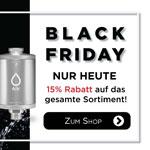 Black Friday bei Alb Filter – Nur heute 15% auf das Sortiment an Trinkwasser- und Duschfilter