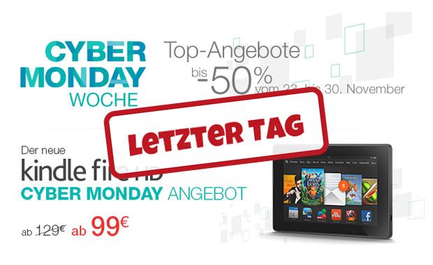 Letzter Tag der Amazon Cyber Monday Woche!