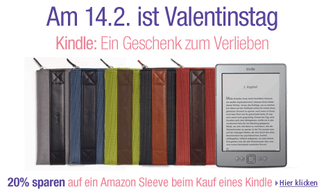 Kindle Valentinstag-Deal bei Amazon.de