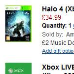 Xbox 360 (250GB) + Halo 4 + 12 Monate Xbox LIVE Gold für 203,25 Euro