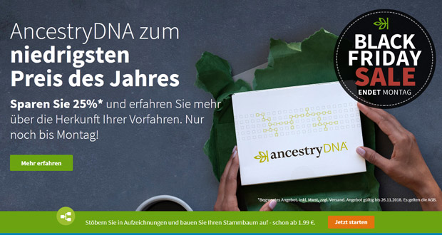 Ancestry Black Friday 2018