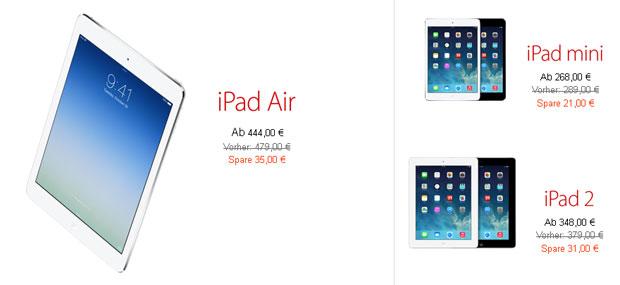 Apple Black Friday 2013 iPad Angebote