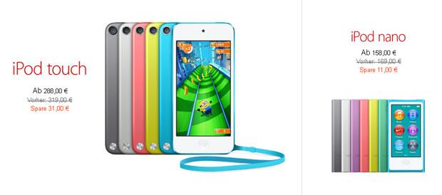 Apple Black Friday 2013 iPod Angebote
