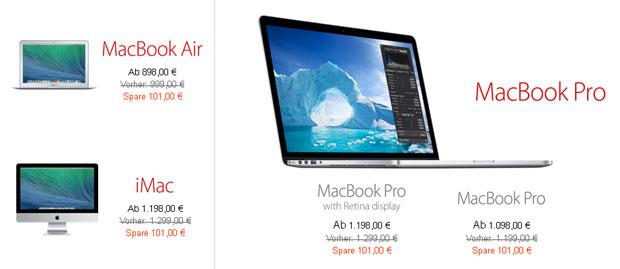 Apple Black Friday 2013 MacBook Angebote