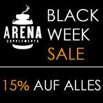 Jetzt 15% Rabatt auf alles beim großen Black Week Sale von Arena Supplements