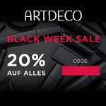 Black Week Sale bei Artdeco mit 20% Rabatt auf das gesamte Sortiment an Beauty-Produkten