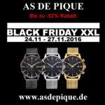 Spare bis Sonntag satte 52% beim Uhrenkauf im Online-Shop von AS DE PIQUE.