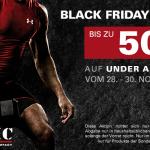 Black-Weekend bei ASMC: Bis zu 50% Rabatt auf ausgewählte Under Armour Artikel!