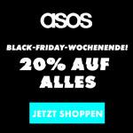 Sicher dir das ganze Wochenende 20% Rabatt auf das komplette Sortiment bei Asos!
